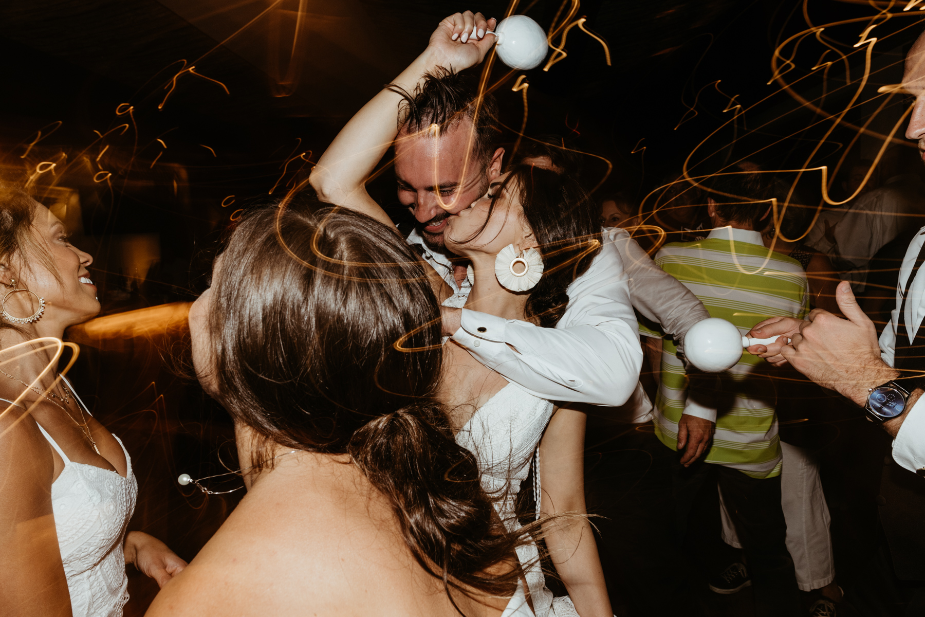 Beautiful acre baja wedding couple dancing